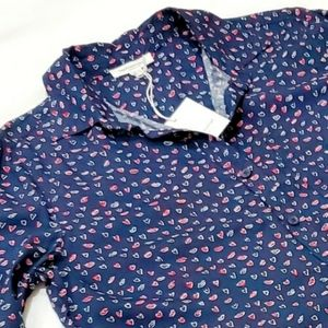 NWT BEACH LUNCH LOUNGE Alana Love is Navy Blouse